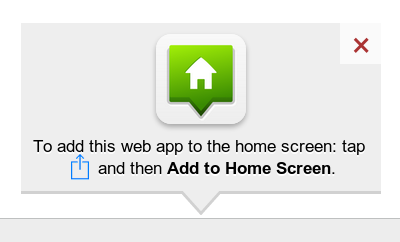 add web app to home screen